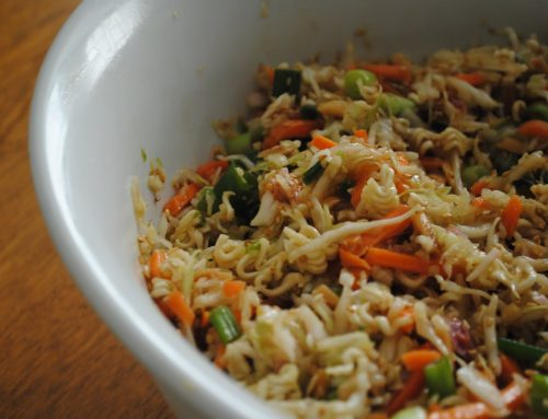 Crunchy Vegetable and Sesame Noodle Salad – with Black Garlic