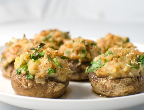 Black Garlic Stuffed Mushrooms
